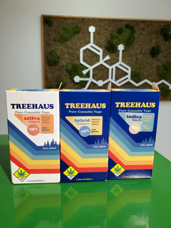 Treehaus Tahoe OG, Sundae Driver and Grapefruit Vapes - Treehaus is an exciting new line from our good friends at Heylo. Treehaus combines Heylo's incredible full spectrum cannabis oil with high potency distillate to provide the best of both worlds. High potency, and incredible tasting and unique terpene profiles. Utilizing pesticide free flower to guarantee the highest quality product possible, check out Treehaus next time you are in the market for a new vape cart.
