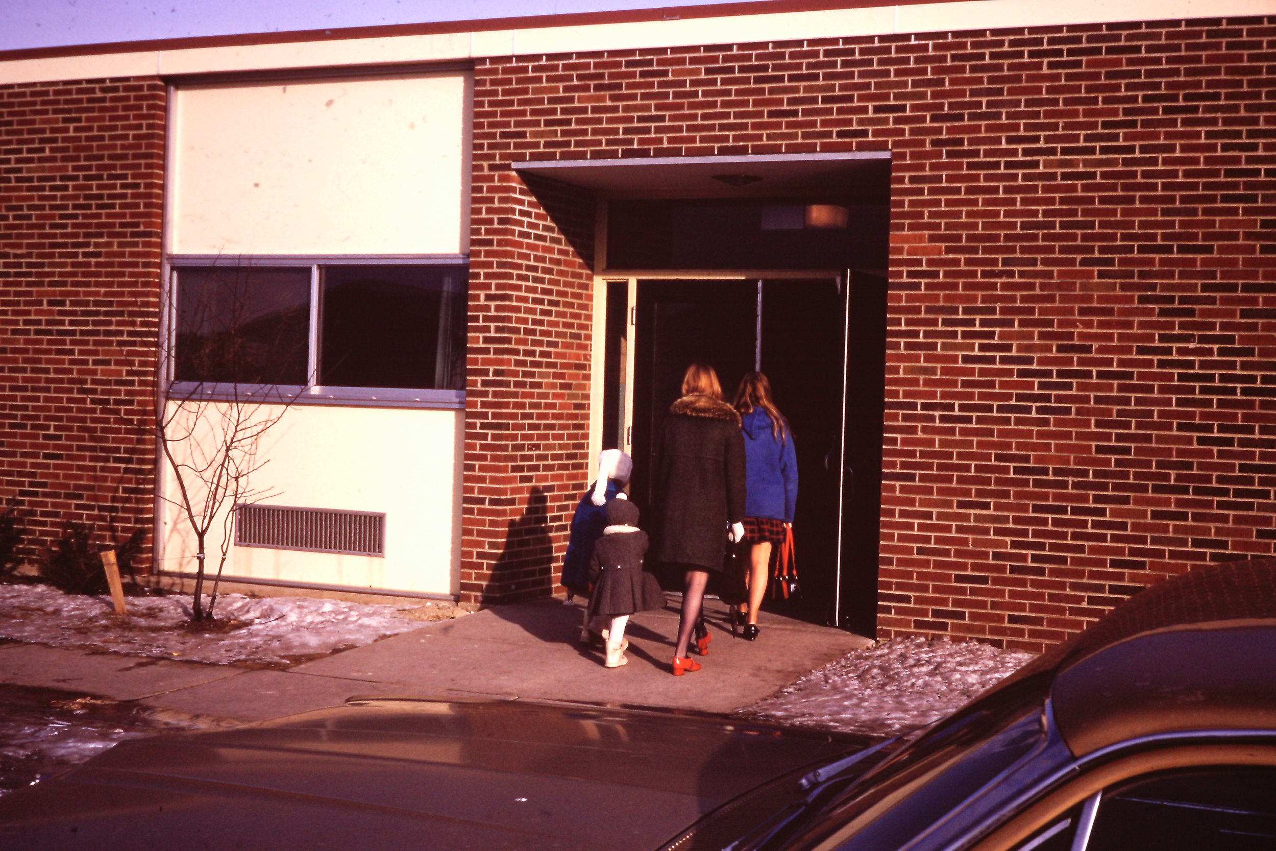 February 7. 1971 - 150 members and friends gathered for our first worship service at Virginia Lake Elementary School in Palatine.