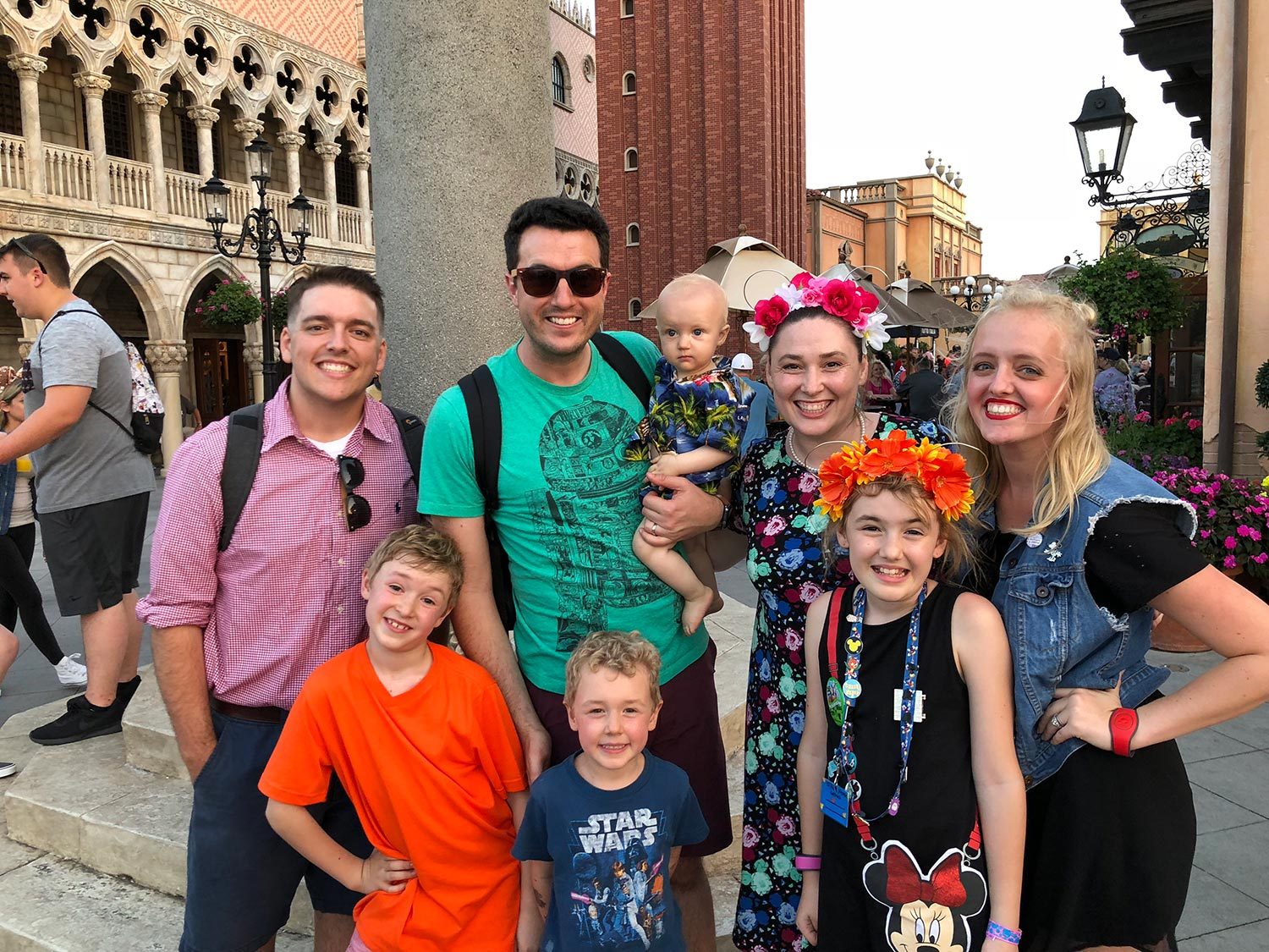 Peter & Sarah with their favorite YouTube family, the Ballingers.
