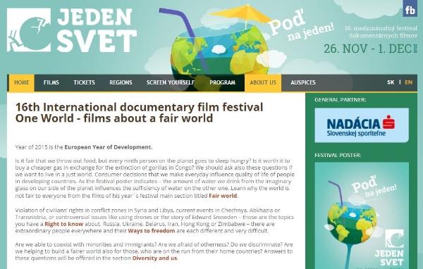 (Image: Screenshot of The One World festival website)