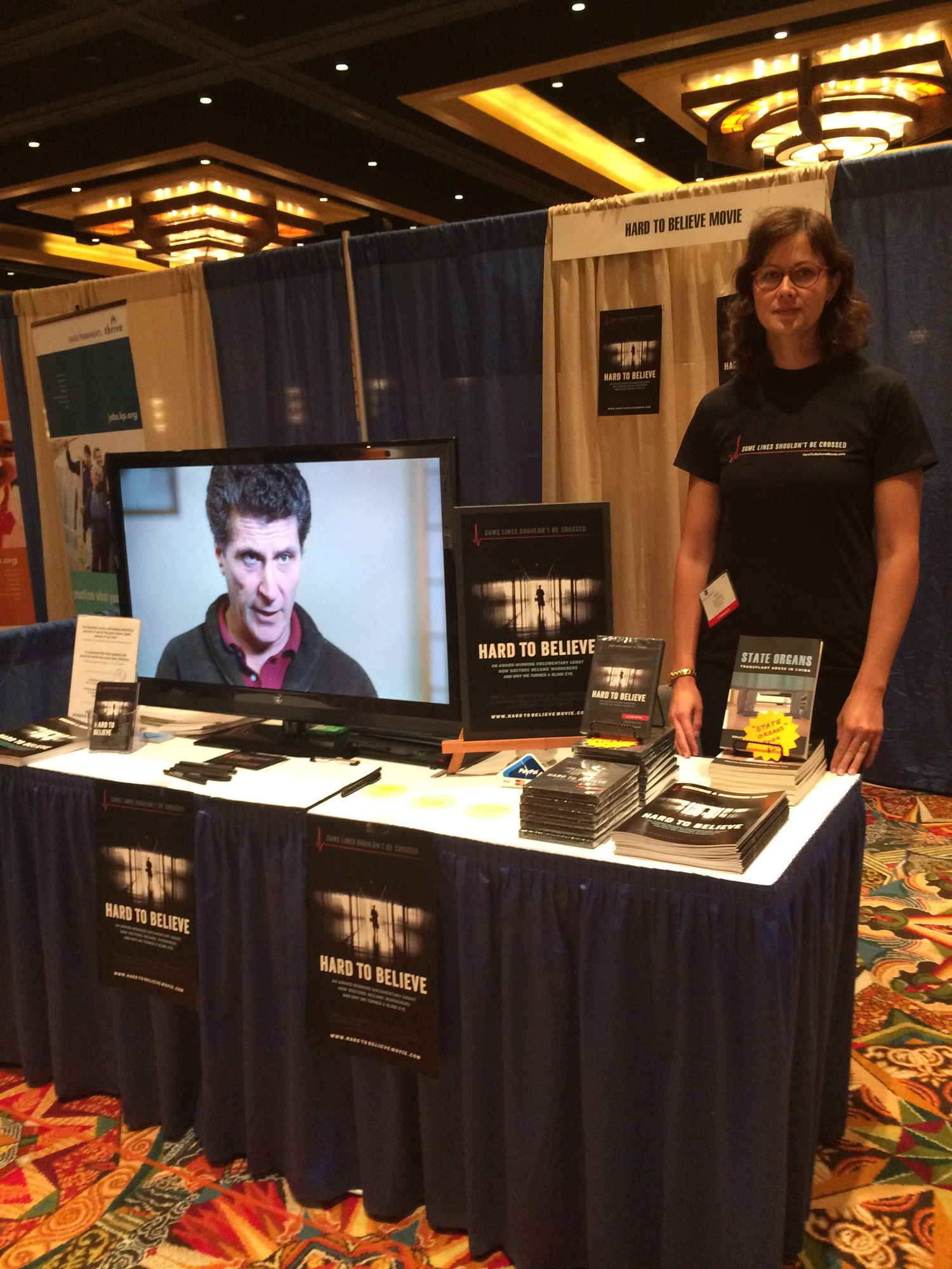 Swoop Films representative at the ASBH conference. (Image: Swoop Films)