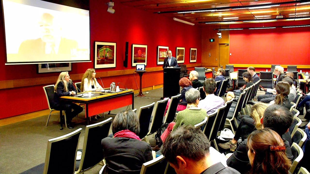 The screening of Hard To Believe at the NSW Parliament. (Image: Susie Hughes)