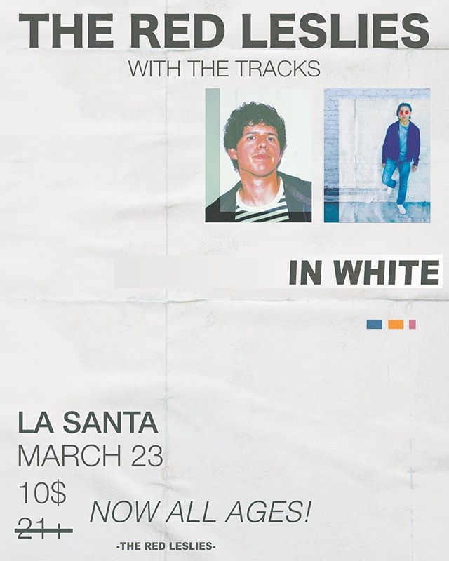 NOW ALL AGES - March. 23rd @lasantaoc w/ @thetracks come throughhh