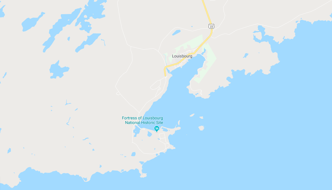 Follow the Louisbourg Highway (Trunk 22) south from Sydney to arrive in Louisbourg and then continue through the town to reach the Fortress of Louisbourg National Historic Site