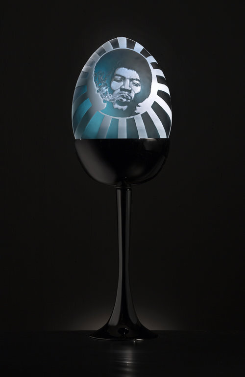 Jimi Hendrix Modern Day Fabergé by Morgan Peterson