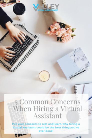 5 Common Concerns When Hiring a Virtual Assistant #VA #HiringTips #VAHiring #EntrepreneurialTips