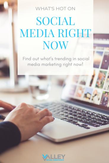What's Hot on Social Media Right Now #socialmedia #socialmediatrends #VATips