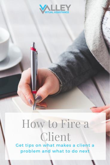 How to fire a problem client as a freelancer #VATips #FreelancerTips #FireaClient