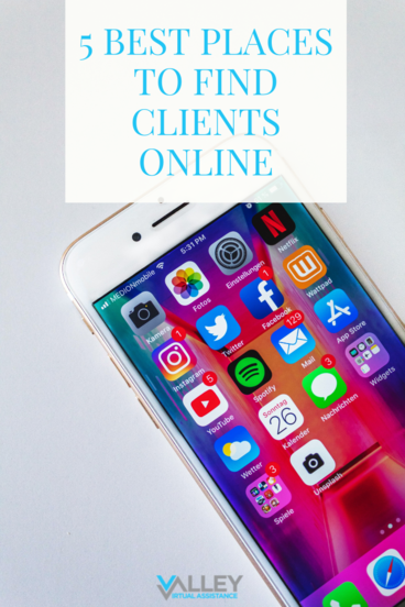 5 Best Places to Find Clients #ClientAttraction #VATips