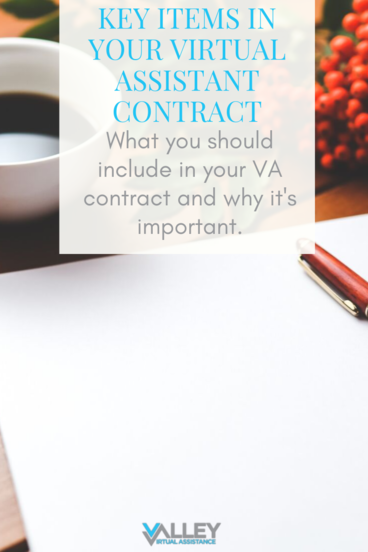 Key Items In Your Virtual Assistant Contract #VATips VirtualAssistantTips #VAContract