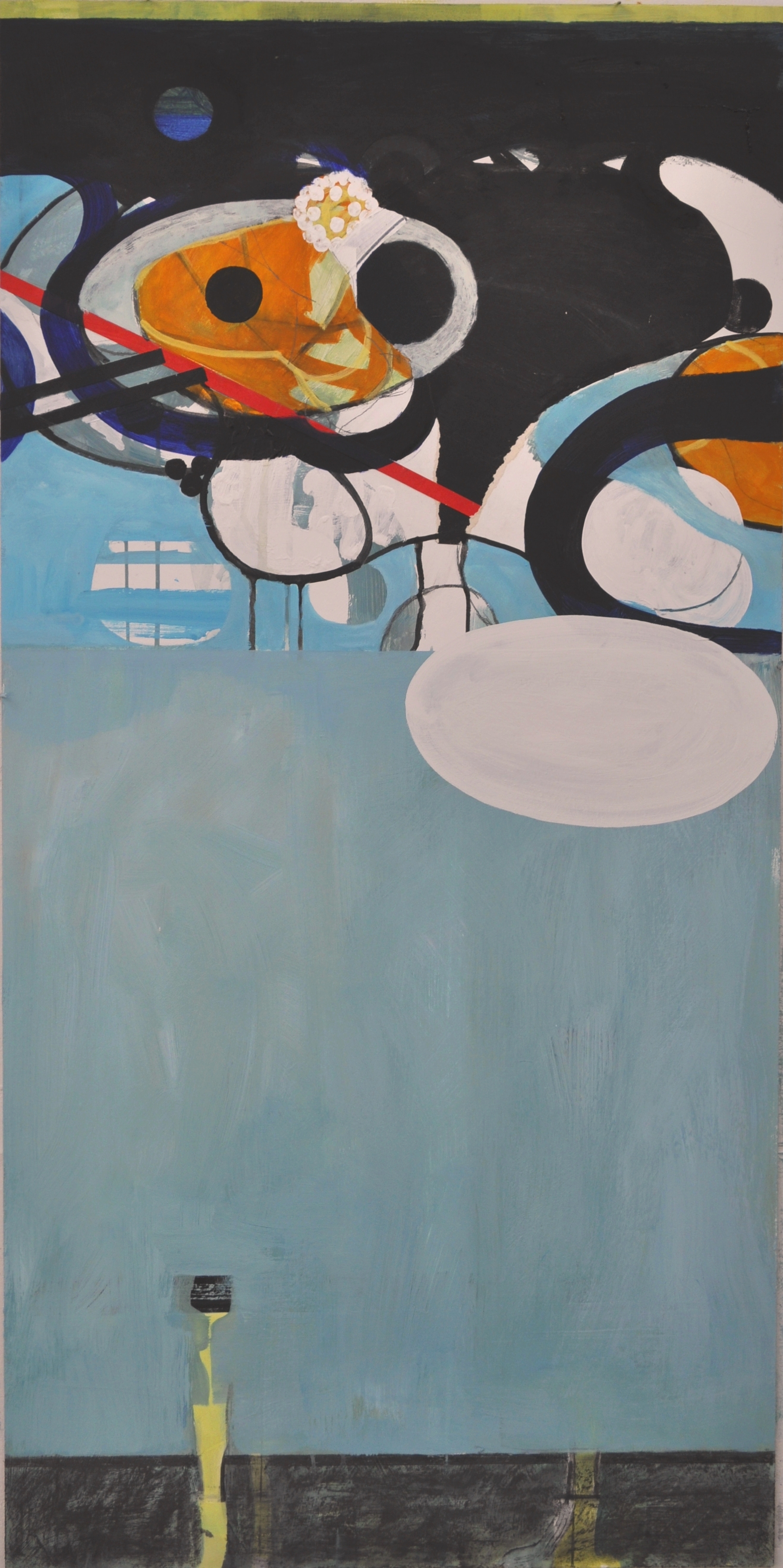 2  Visitation 2012 Acrylic and graphite on board 122x61cm.JPG