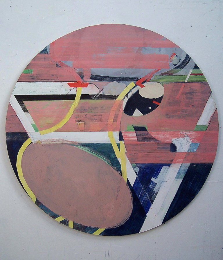 8 Beyond the Frontier 2008 Acrylic and pasted paper on board 120cm diameter.jpg