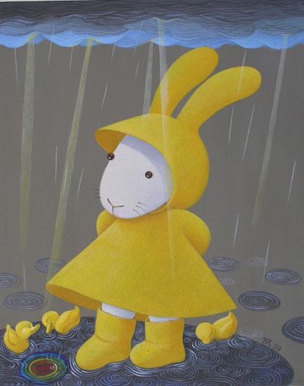 Rainy days variation- Well, excuuuuuuse us rubber duckies 雨天變奏曲- 欸!請您別介意咱們這些塑膠玩具小鴨子!