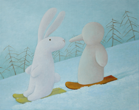 Who you met on the bunny slope 你在雪道上遇到的什麼人
