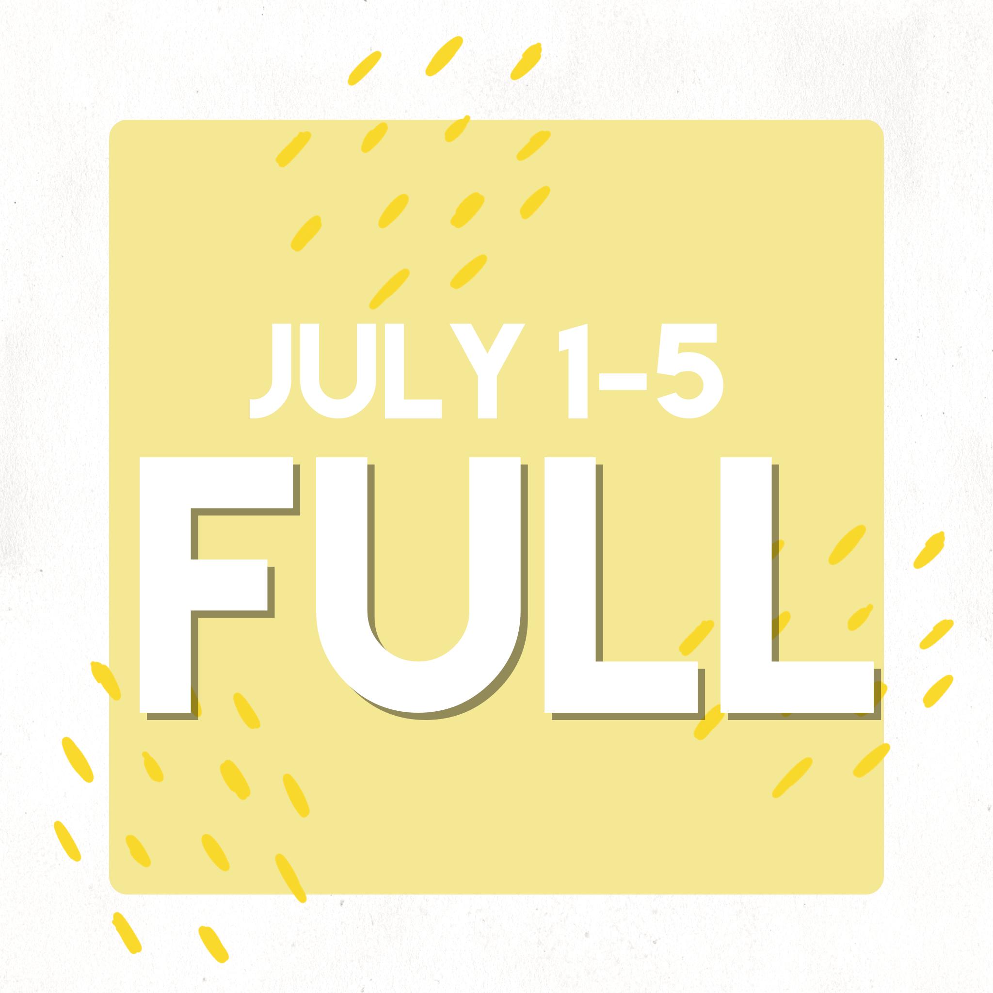 July 1-5 WIND (No camp July 4) (FULL) -