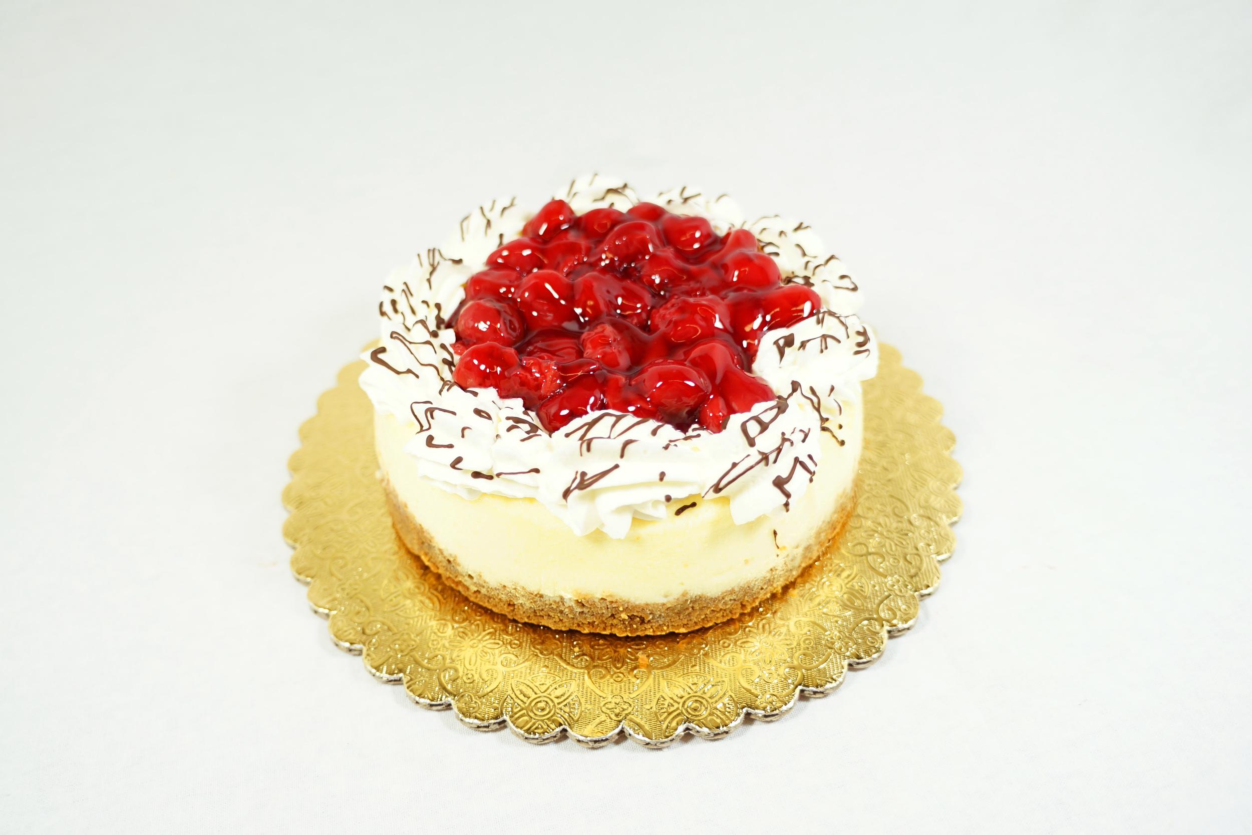 Cherry Cheesecake - Graham cracker crust with cherry topping.