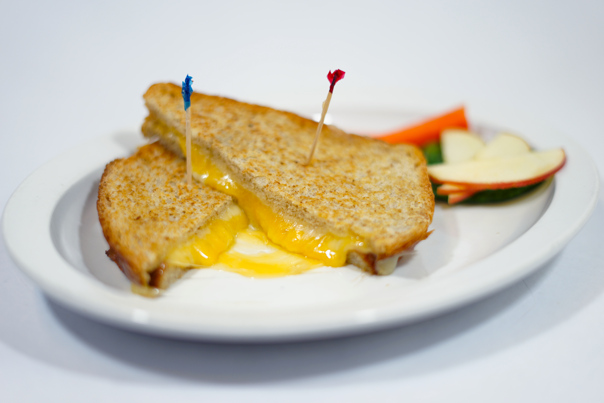 Kids Grill Cheese - On Country French bread with swiss, cheddar, and provolone cheese.