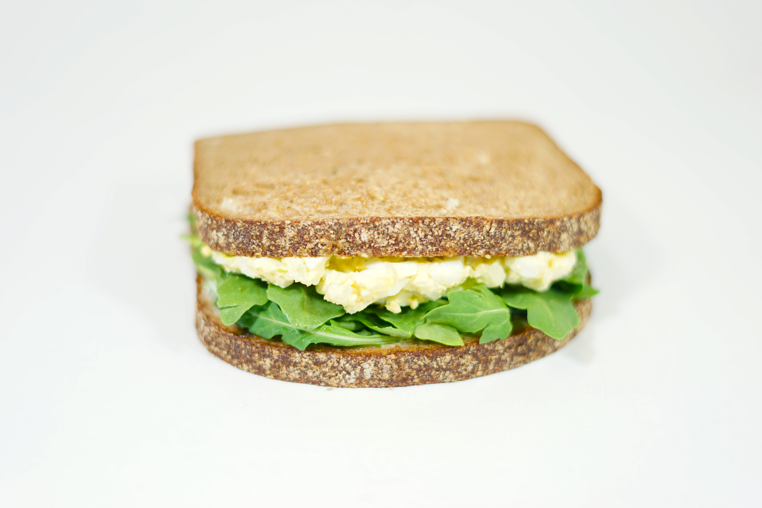 Egg Salad - On Buttermilk Whole Wheat bread with your choice of arugula greens or lettuce and mayo.