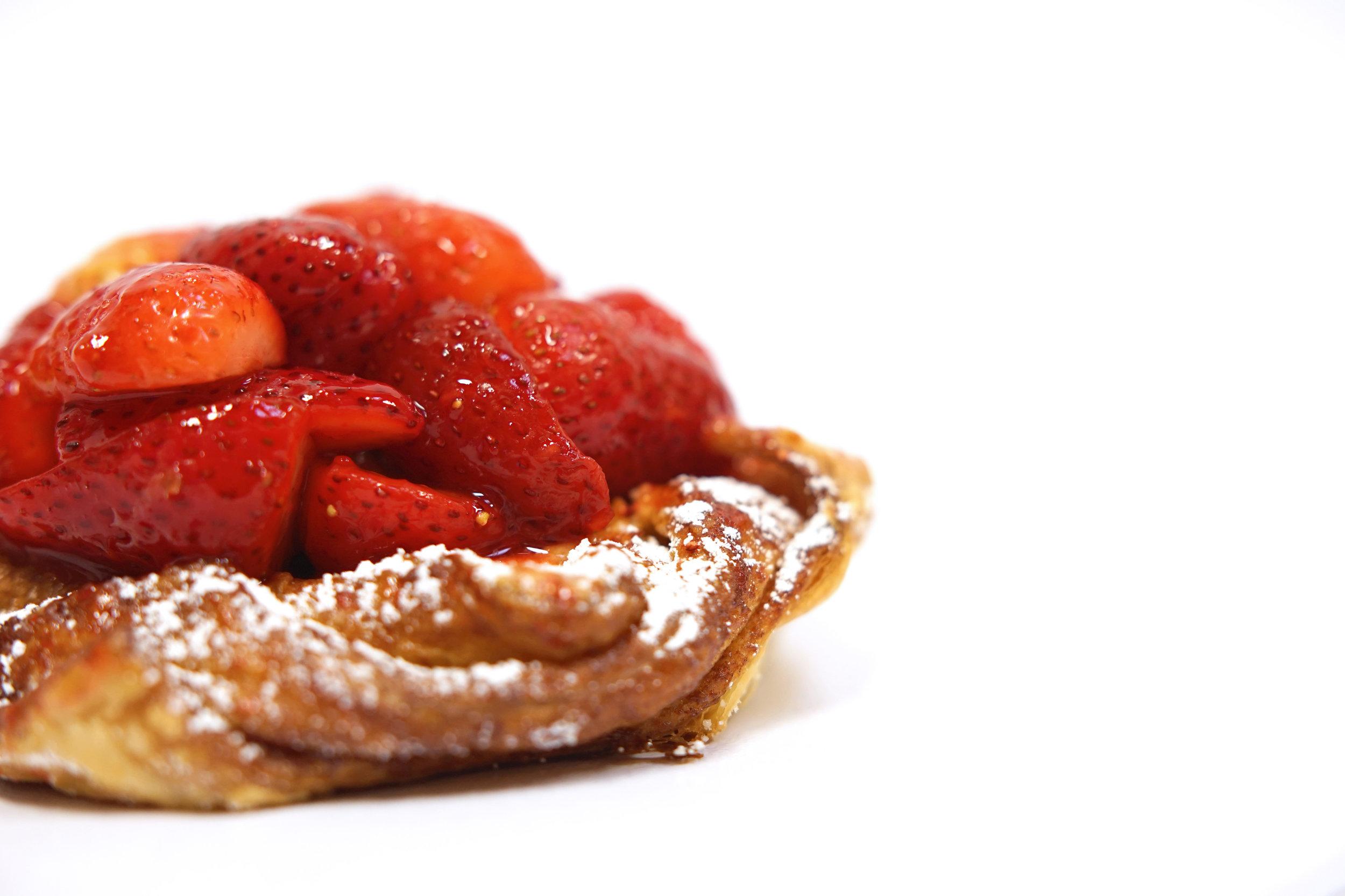 Fresh Strawberry Danish -