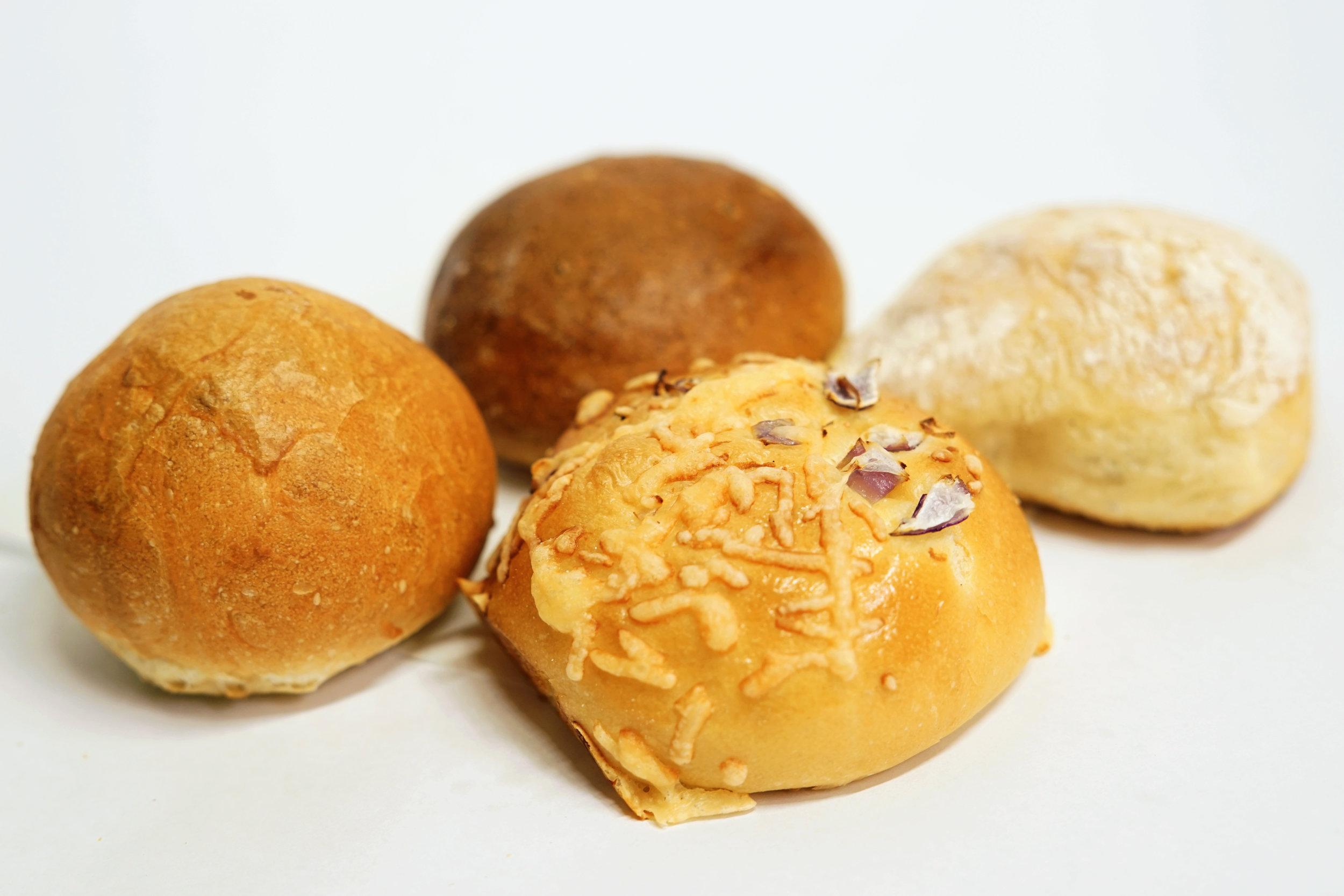 Rolls: - Parker House, Whole Wheat, Provencal, or Petit Pan
