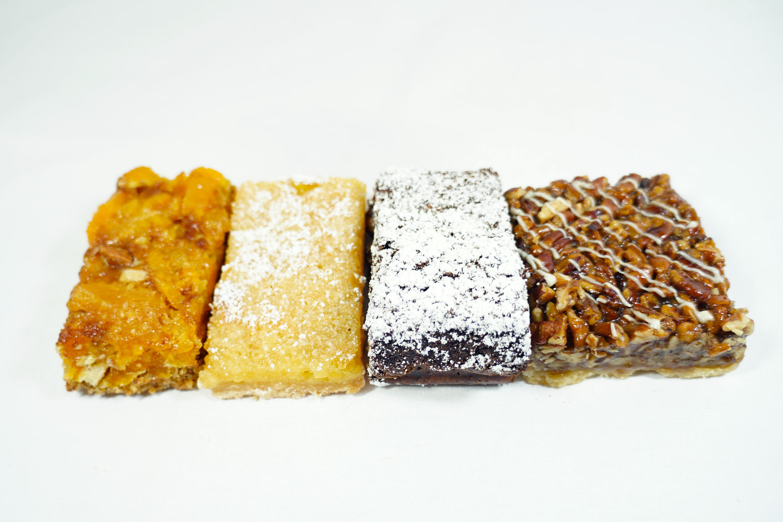 Bars - Lemon, Apricot Almond, Brownie with Walnuts, or Caramel Pecan