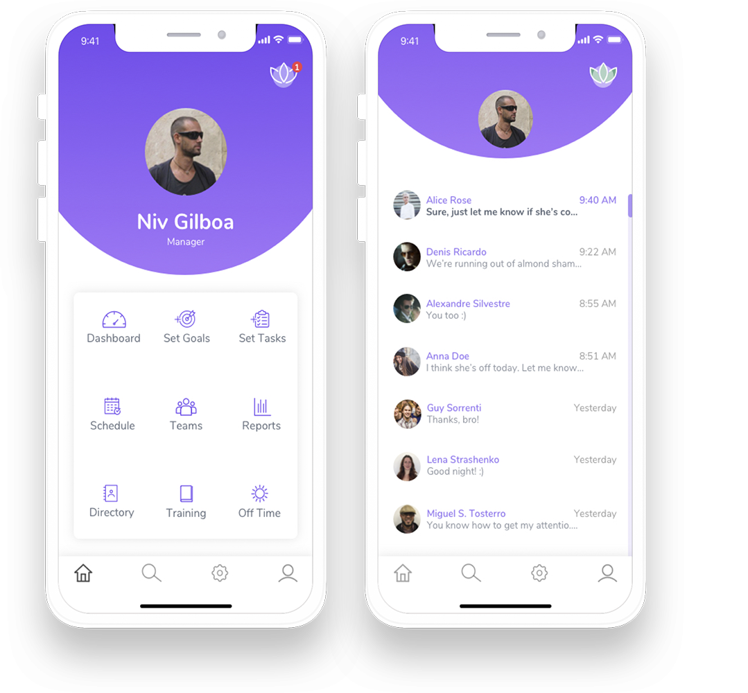 Internal company chat will allow all parts to interact and solve any issues within the context of the app‭.‬ The app is being used daily by around 200 employees of the company.  -