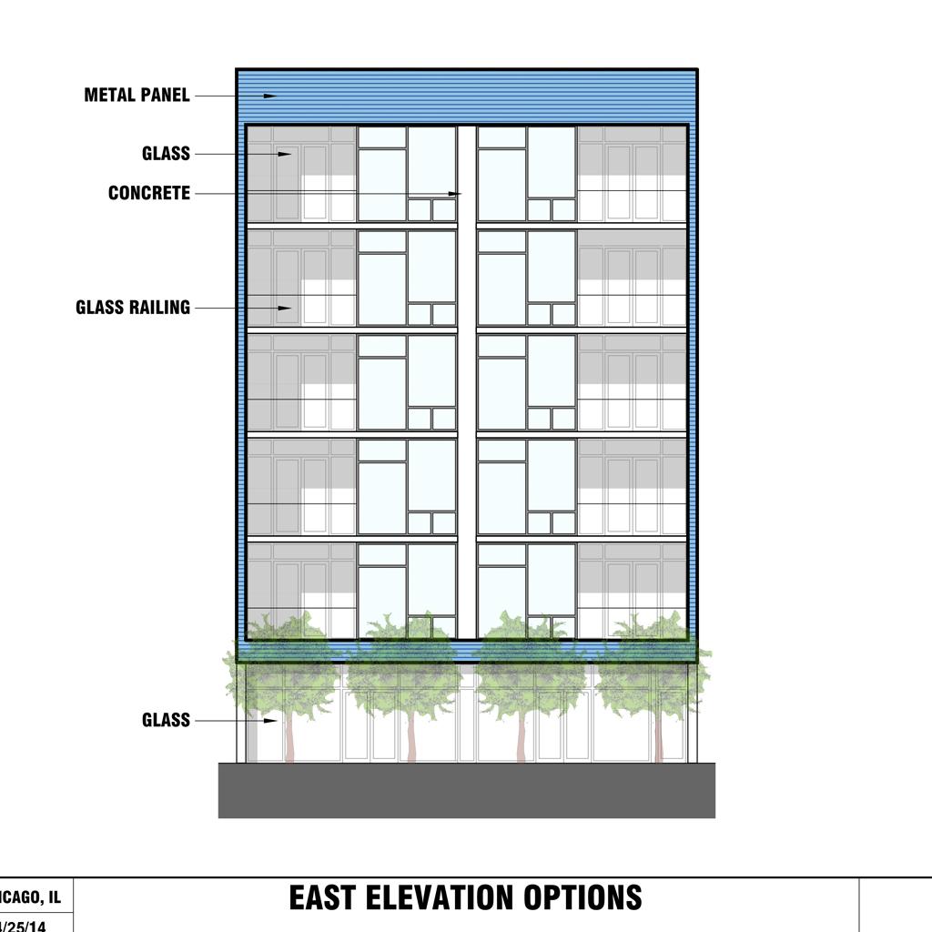 Old Town, Chicago - Multi-unit condo new construction, schematic design,