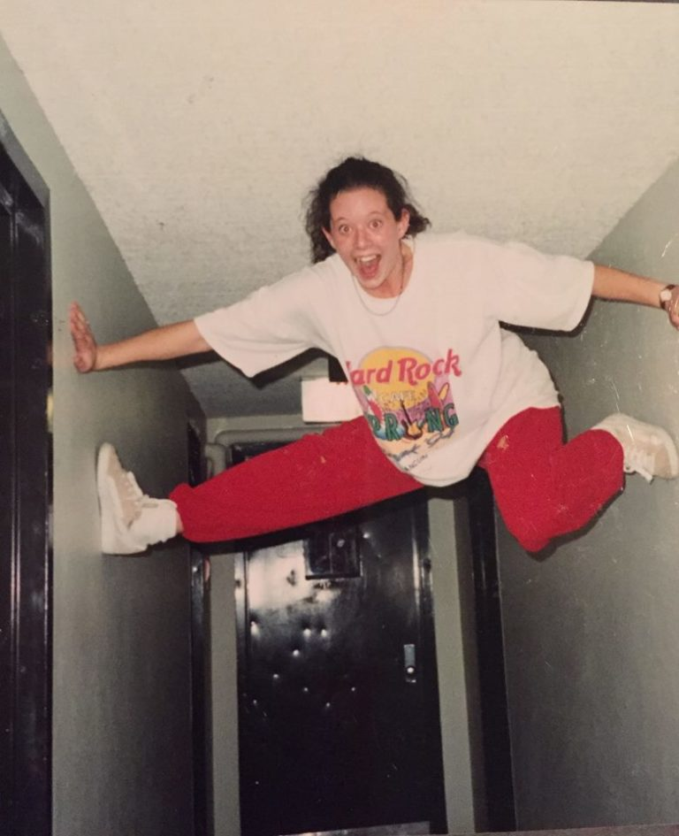 Limitless Energy: Check. Impeccable Sense of Fashion: Check. Circa 1994, University of MN Freshman Dorm.