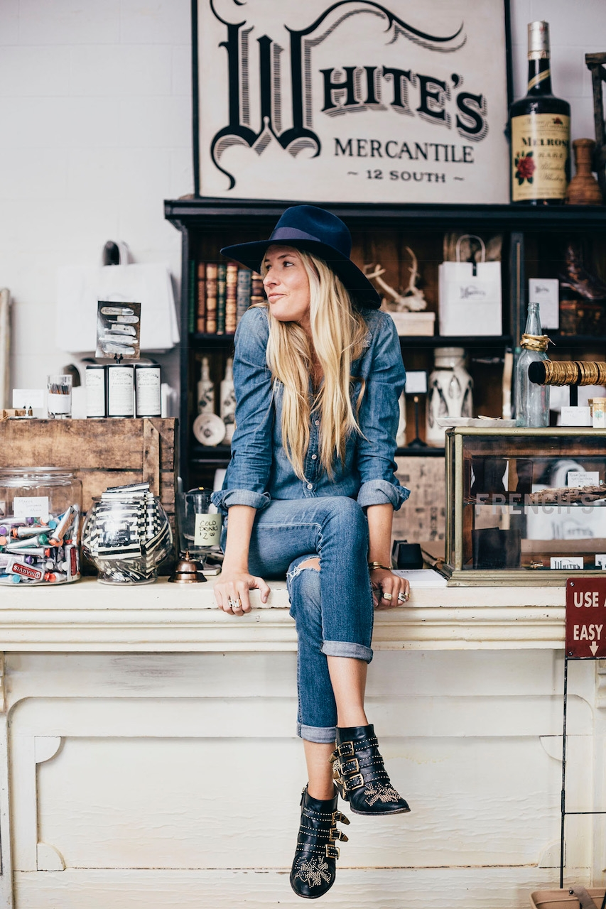White's Mercantile. H.Audrey Nashville. Hank Williams' daughter. Holly Williams. Nashville fashion. Shops at 12th South.