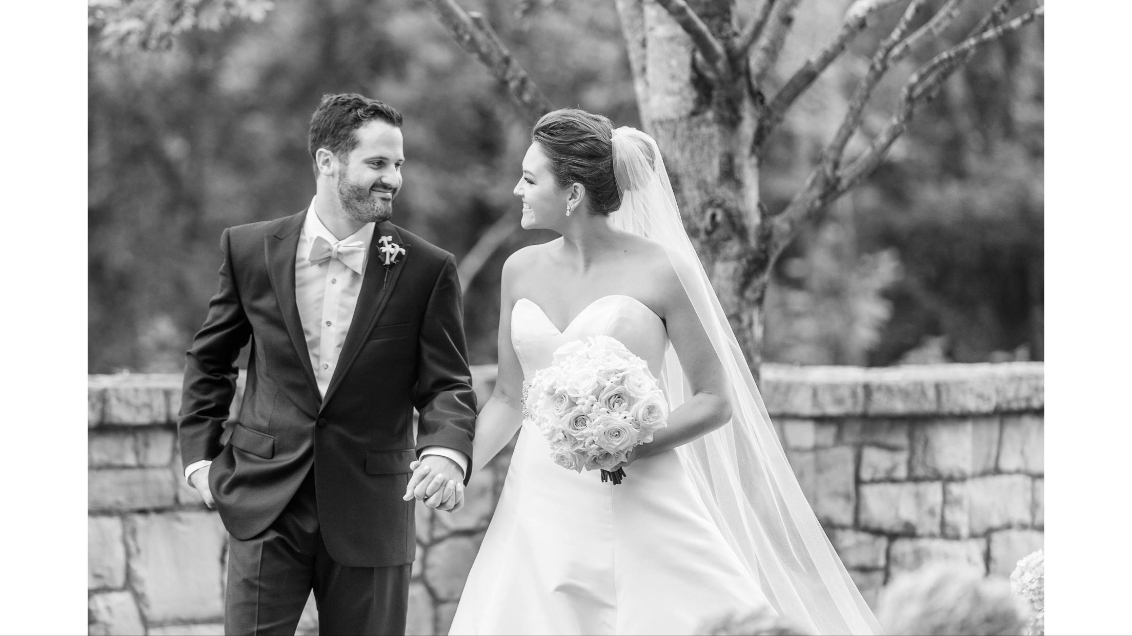 Mattie and Ben's wedding day, October 2017.