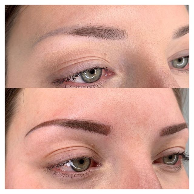 These BEAUTIFUL #permanentbrows using the #stardustbrow technique! It was a fun day at @mprsd for #permanentmakeup ! These brows will soften over the next few weeks and become a perfect contoured yet feathery brow that will soften as the brow tapers inward.  Adjusted the shape from the Previous (before)  permanent makeup that was not my work. 🖤 #ilovemyjob #permanentmakeupartist #mobilealabama #permanentmakeup #permanentmakeupartist #outlinerstudio #permanentmakeupbrows #microblading #permanenteyeliner #permanentlips #permanentlashenhancement #microbladingeyebrows #wakeupmadeup #beauty #beautytips #beautytip #mobilealabama #mobileal #fairhopealabama #spa #eyelashes #eyelashextensions #xtremelashes #beautycare #correctiveprocedure #lashstylist #girlsboss #wakeupandmakeup #somobile