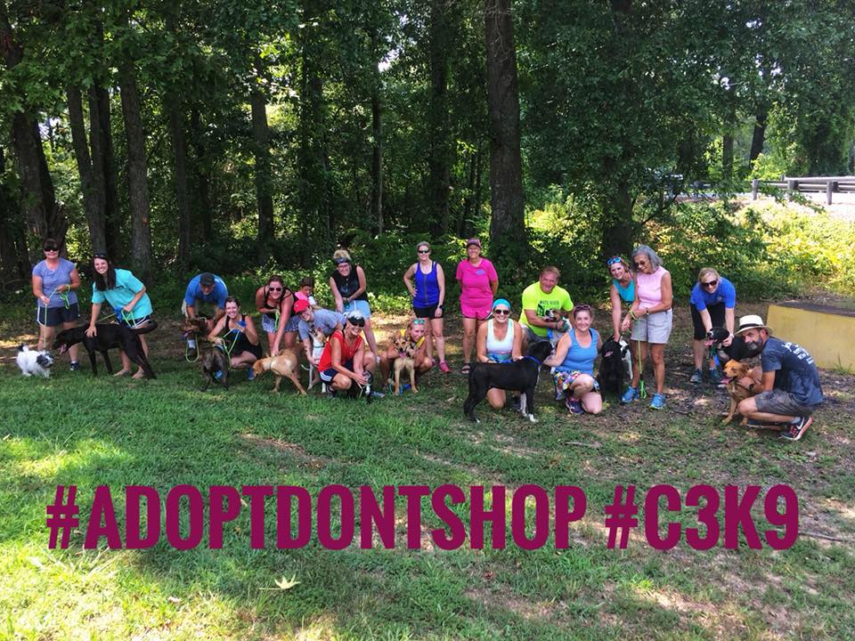 C3K9 - C3K9 is a branch of the Cabot Country Cruisers who have huge hearts for our four-legged friends and incorporate them into their healthy lifestyles!C3K9 walks the shelter dogs every week and lots of times they are with us during play dates!
