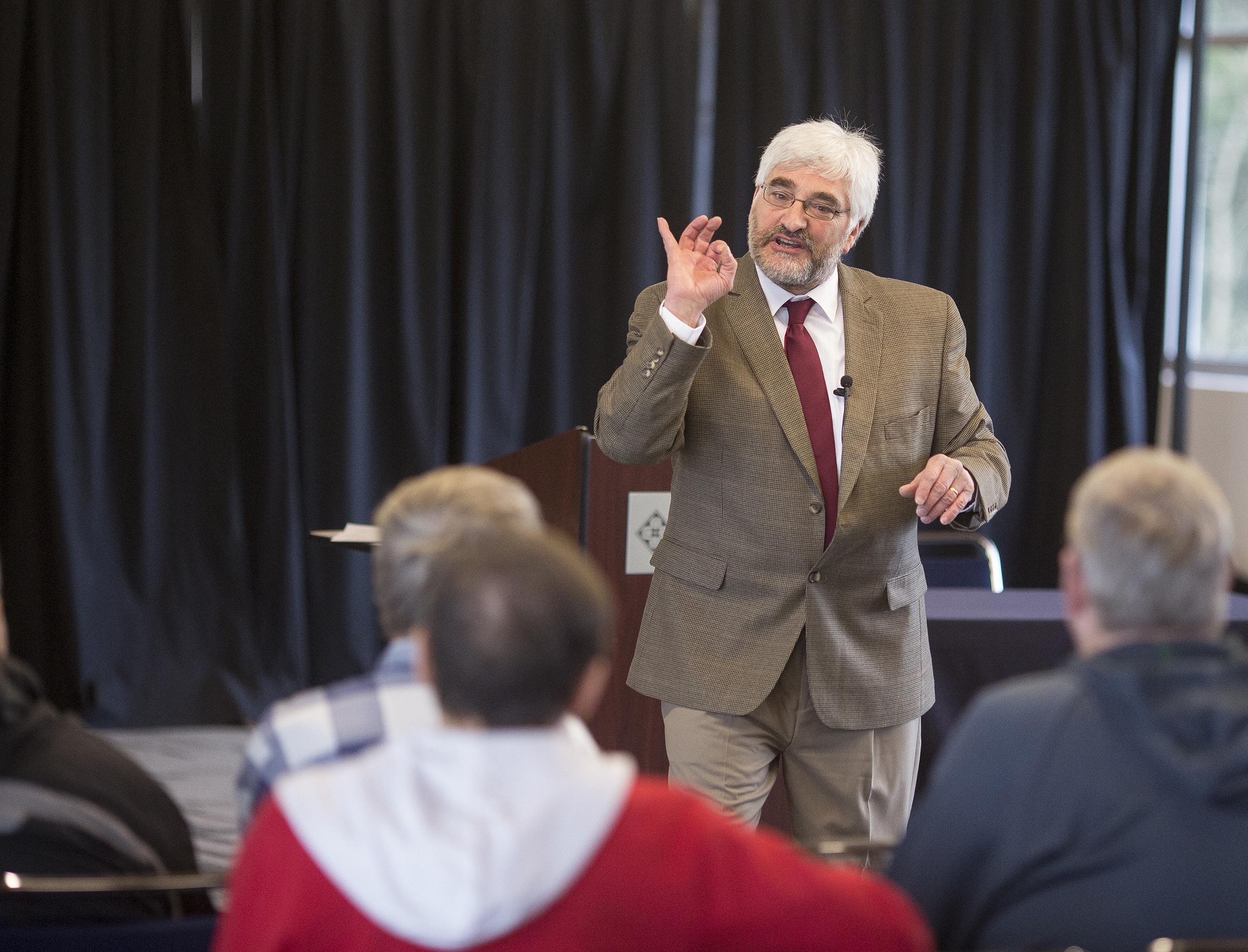 Ken Butigan speaking in Olympia, WA