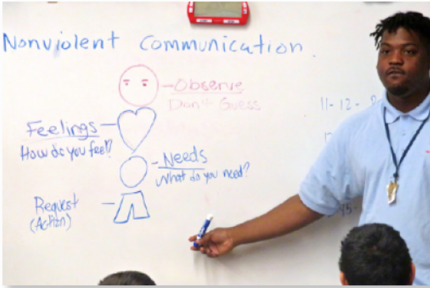North Lawndale Peace Builder Anthony Green teaching nonviolent communication