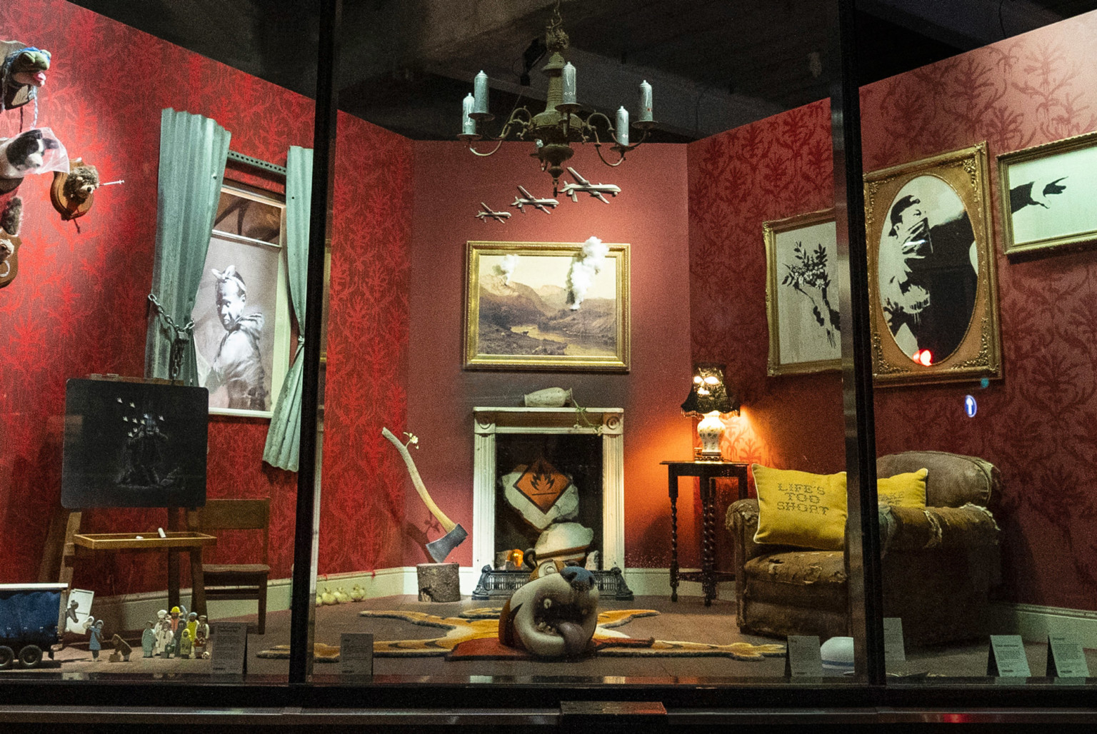 Photo Credit: Banksy's new storefront, Gross Domestic Product. By    Laura Staugaitus   .
