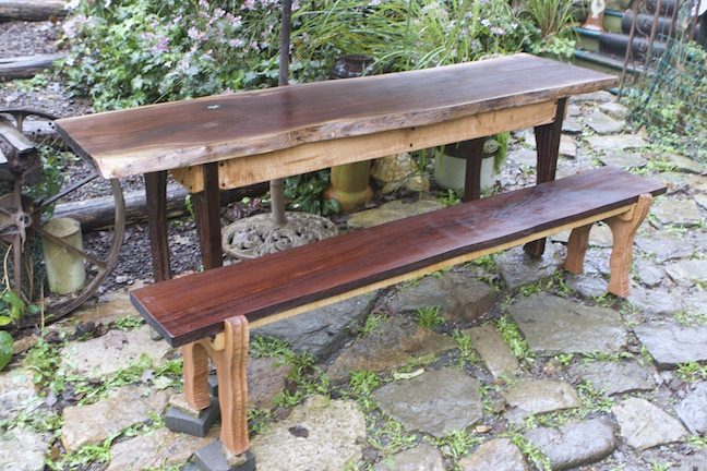 Black Walnut Table & Bench