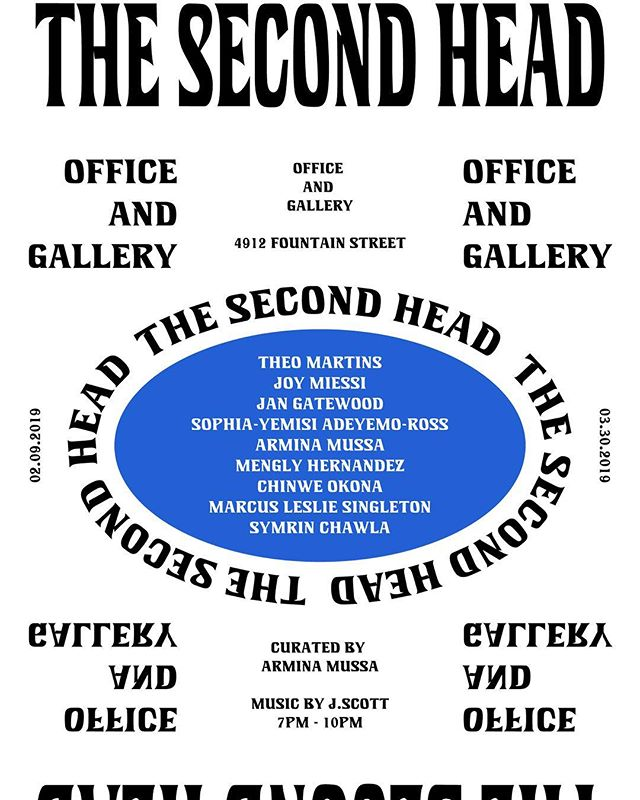 """Excited for this show! Curated by @armina.mussa if you are in LA please check out """"The Second Head"""" featuring some of my work and a had full of very talented artist!"""