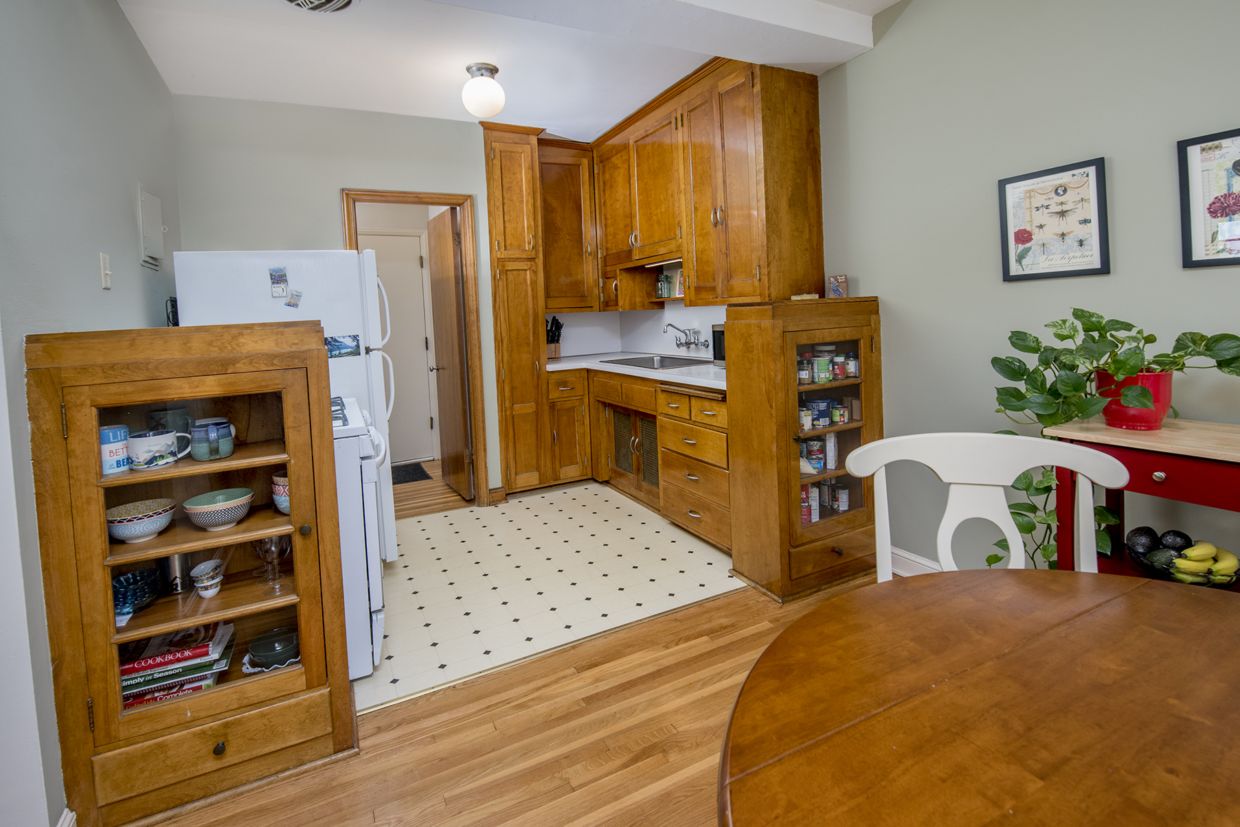 Great kitchen space with dedicated dining room.