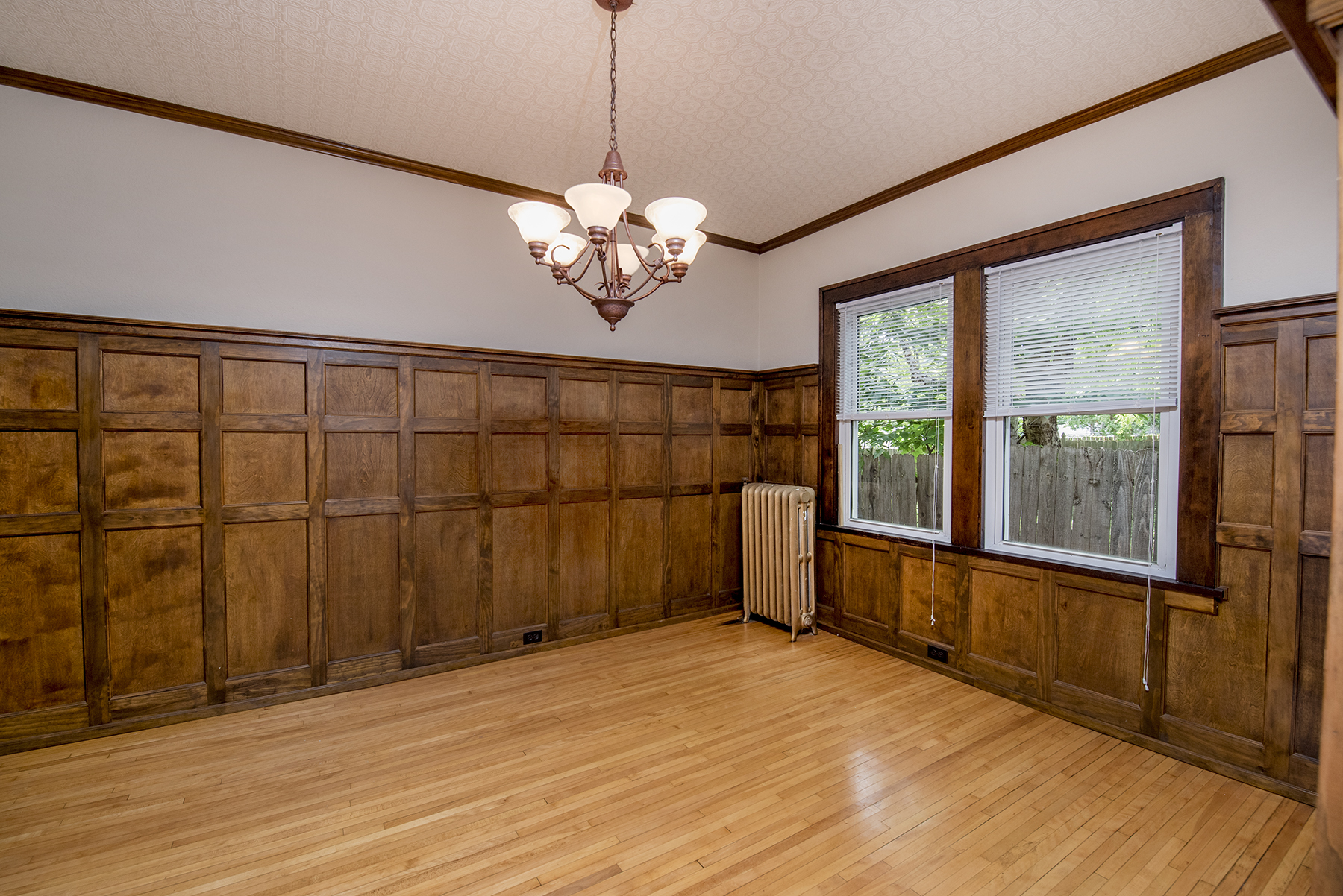 Formal dining room is adjacent to the kitchen.
