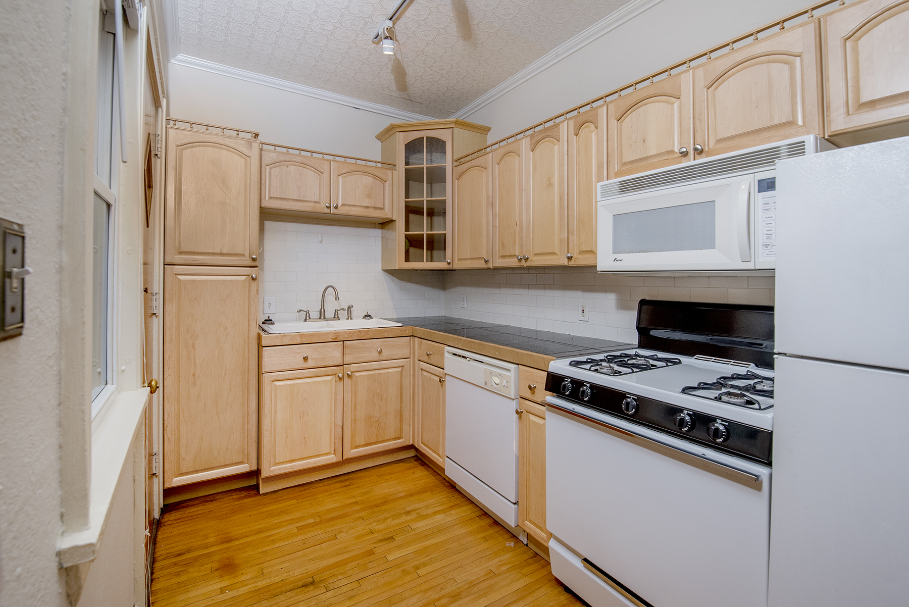 Updated kitchen with dishwasher and lots of storage!