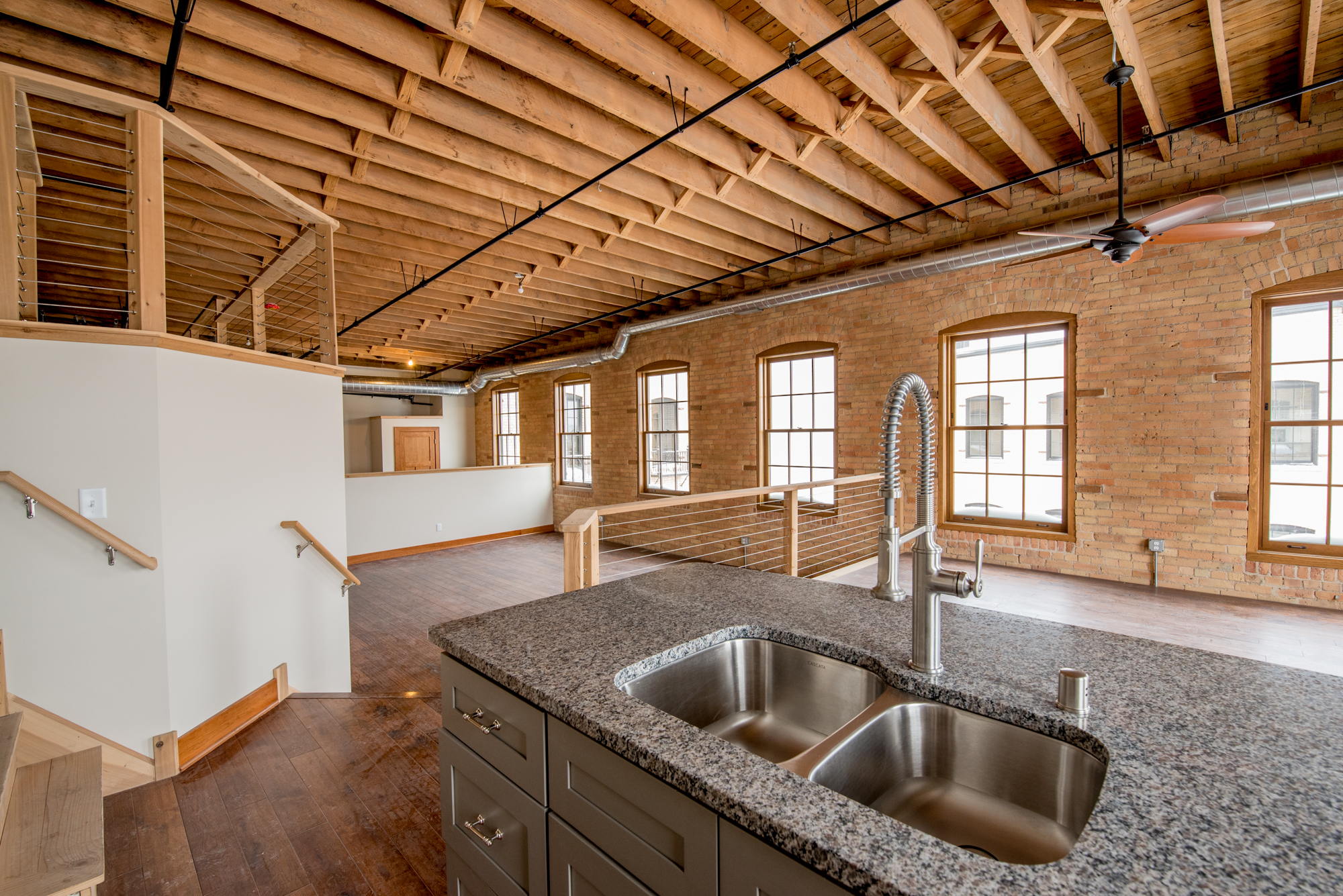 Each apartment has its own, unique floor plan to maximize the space within each apartment. Design elements include exposed brick and timber construction, oversized windows and plenty of preserved history. CLICK PHOTO FOR MORE