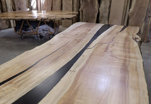 Canada 🇨🇦 is a long way to go to get a cutting board but we wanted to make it extra special. This table top will sell for $12,000 Canadian Dollars  #willgoosewood
