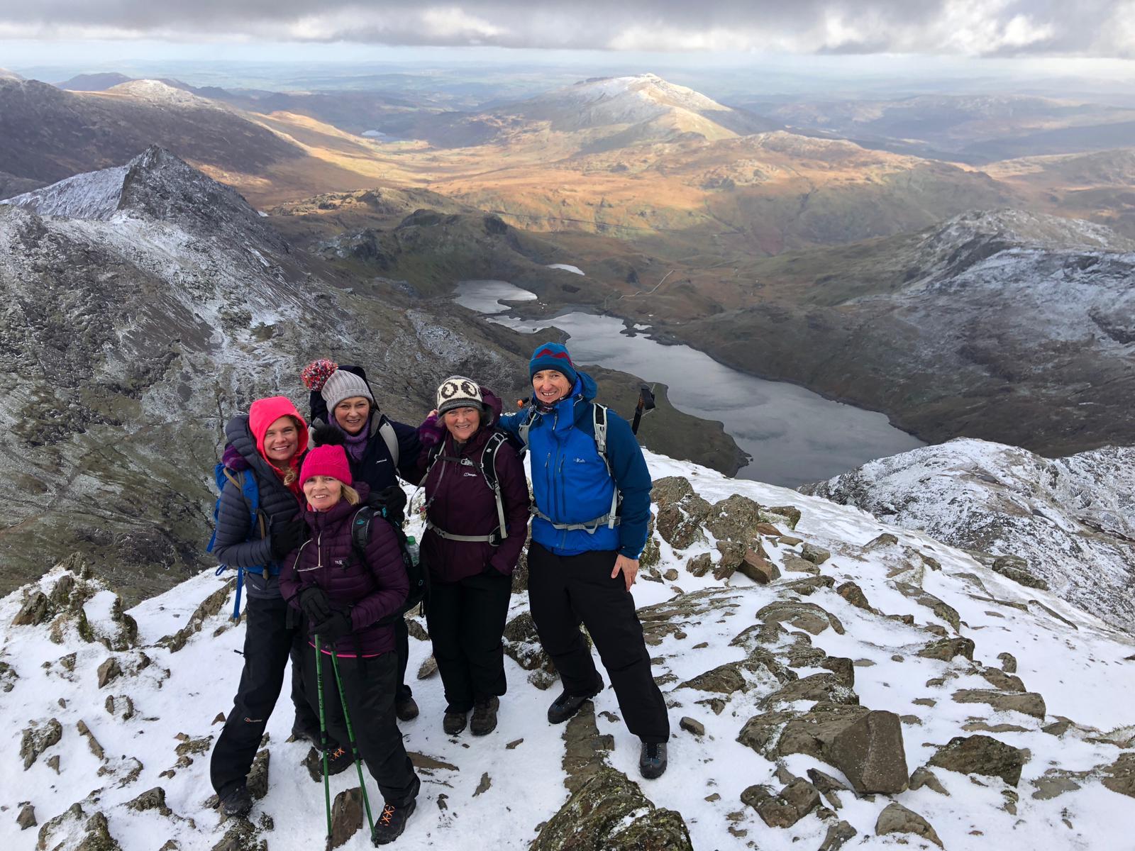 At the top of Snowdon.