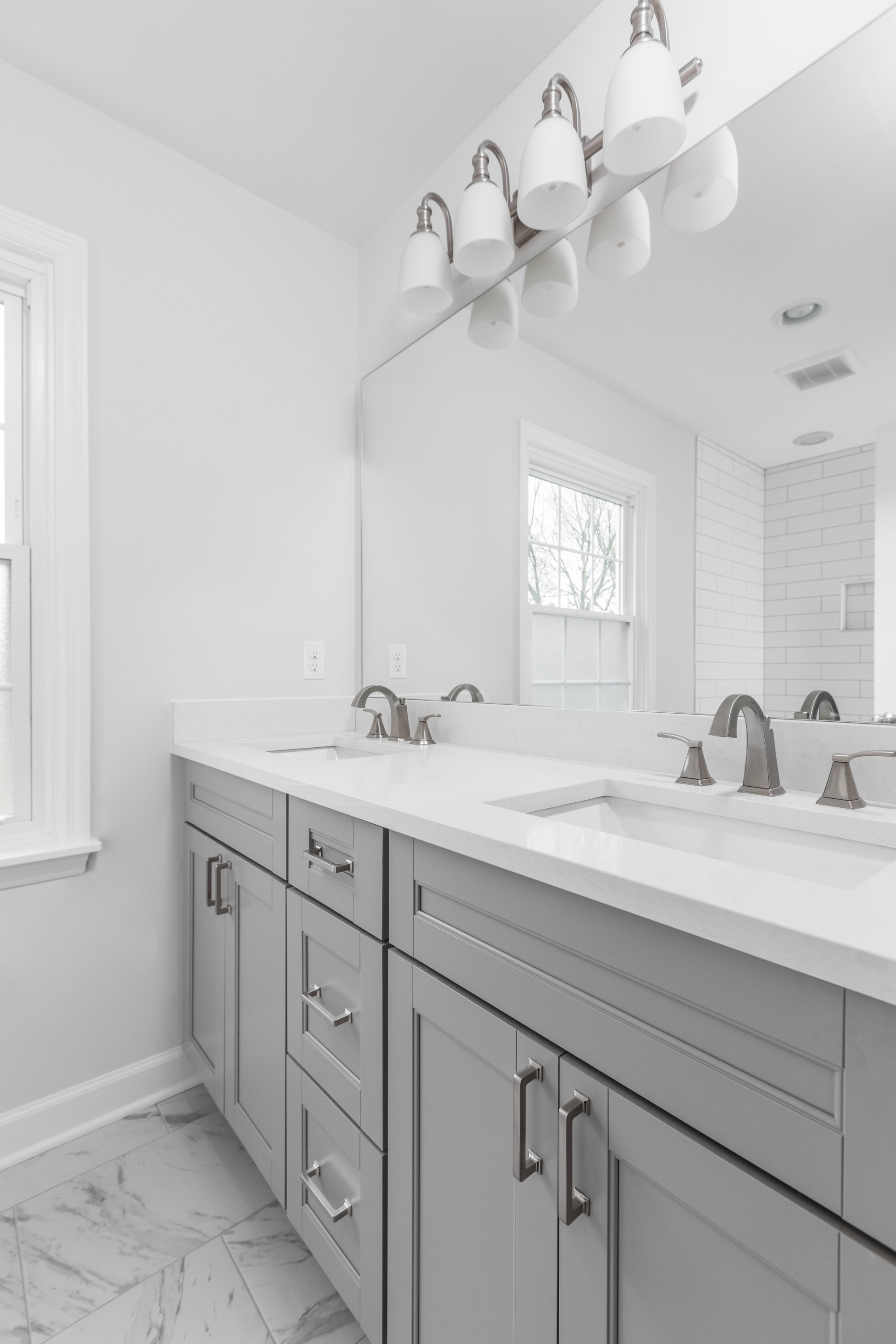 The Engagement House Guest Bathroom After