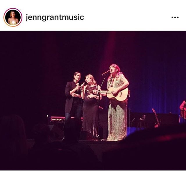 Three of Canada's greatest ✨ 📸 @jenngrantmusic & @rosecousins joined @jillbarber on stage at her show in Halifax on Saturday night.