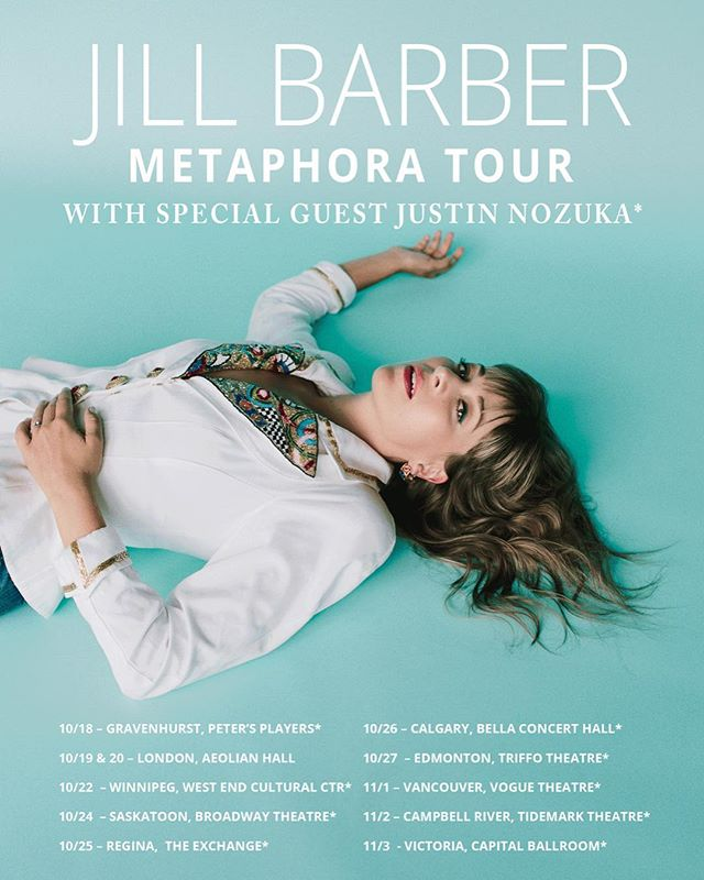 After a stellar show at Roy Thompson Hall last Tuesday night, Jill Barber and Justin Nozuka continue their #Metaphora tour across Canada!  Get your tickets now: jillbarber.com/shows