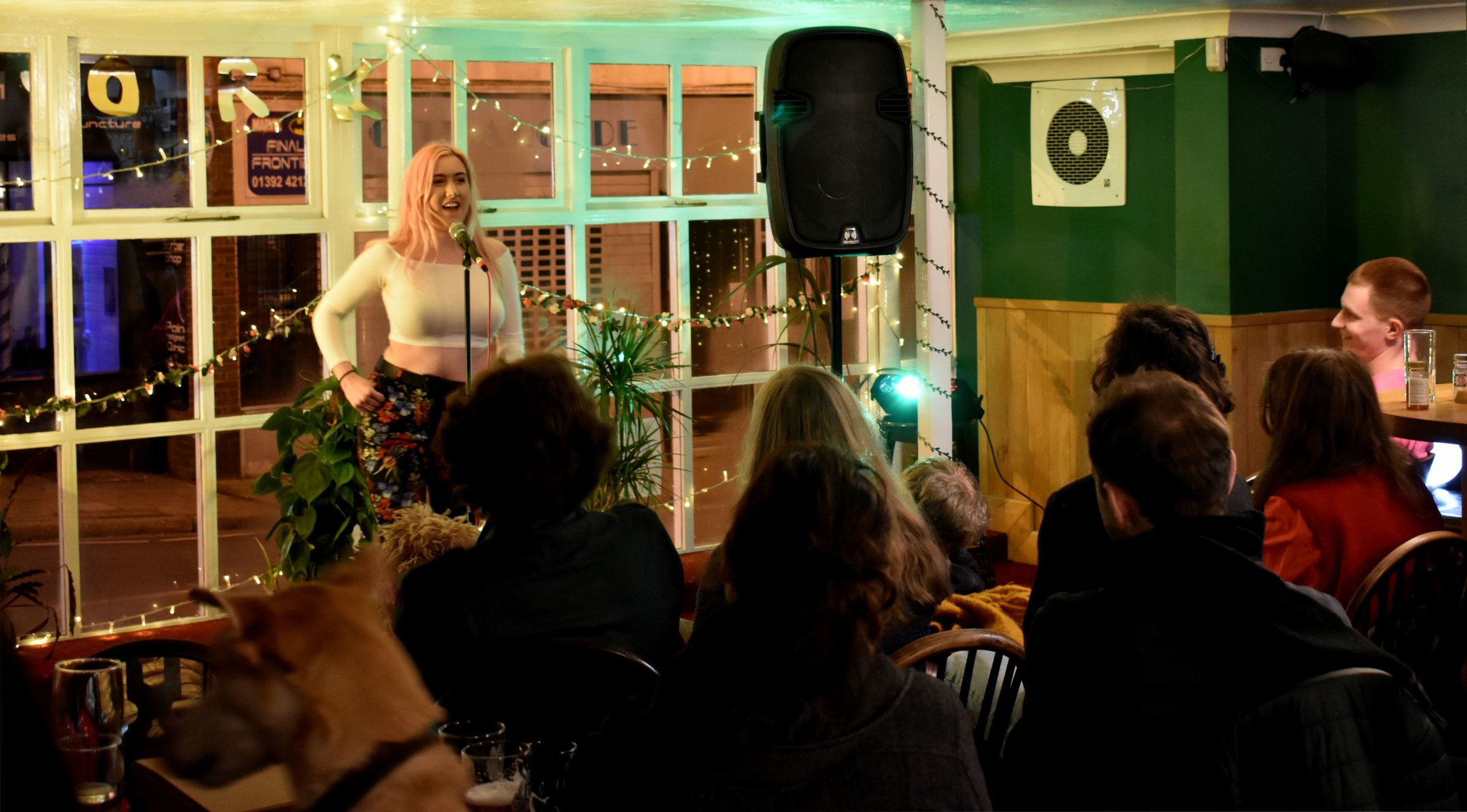Imogen Downes headlining at Spork! in January. Photo by Lewis Plumb.