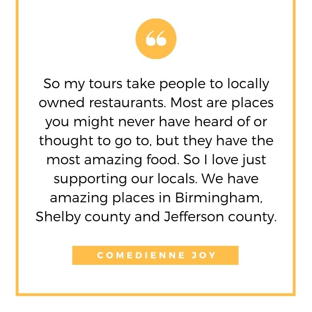 Bham Eat Drink Ride is what you should do this weekend! Tickets available online for Birmingham's original food tour brought to you by Comedienne Joy! | link to podcast (4/7)