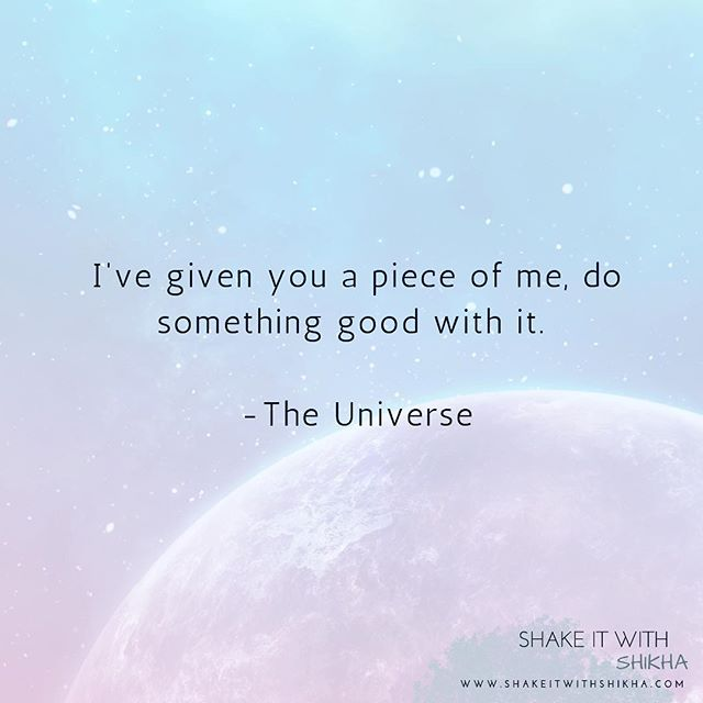 I am a piece of the universe ; the universe is inside me . I love and receive all the universal blessings !  Now your turn to affirm it 🙌🏻 . . . #universe#blessings#universal #affirmation#success#growth#progress#happinessquotes #happiness#inspirationalquotes #love#inspire#inspiration #entrepreneurlife #entrepreneurquotes# #motivation#livewithpassion #yogi#healer#reiki#livewithpurpose #manifest#highvibes#higherconsciousness#mindfulness#shakeitwithshikha
