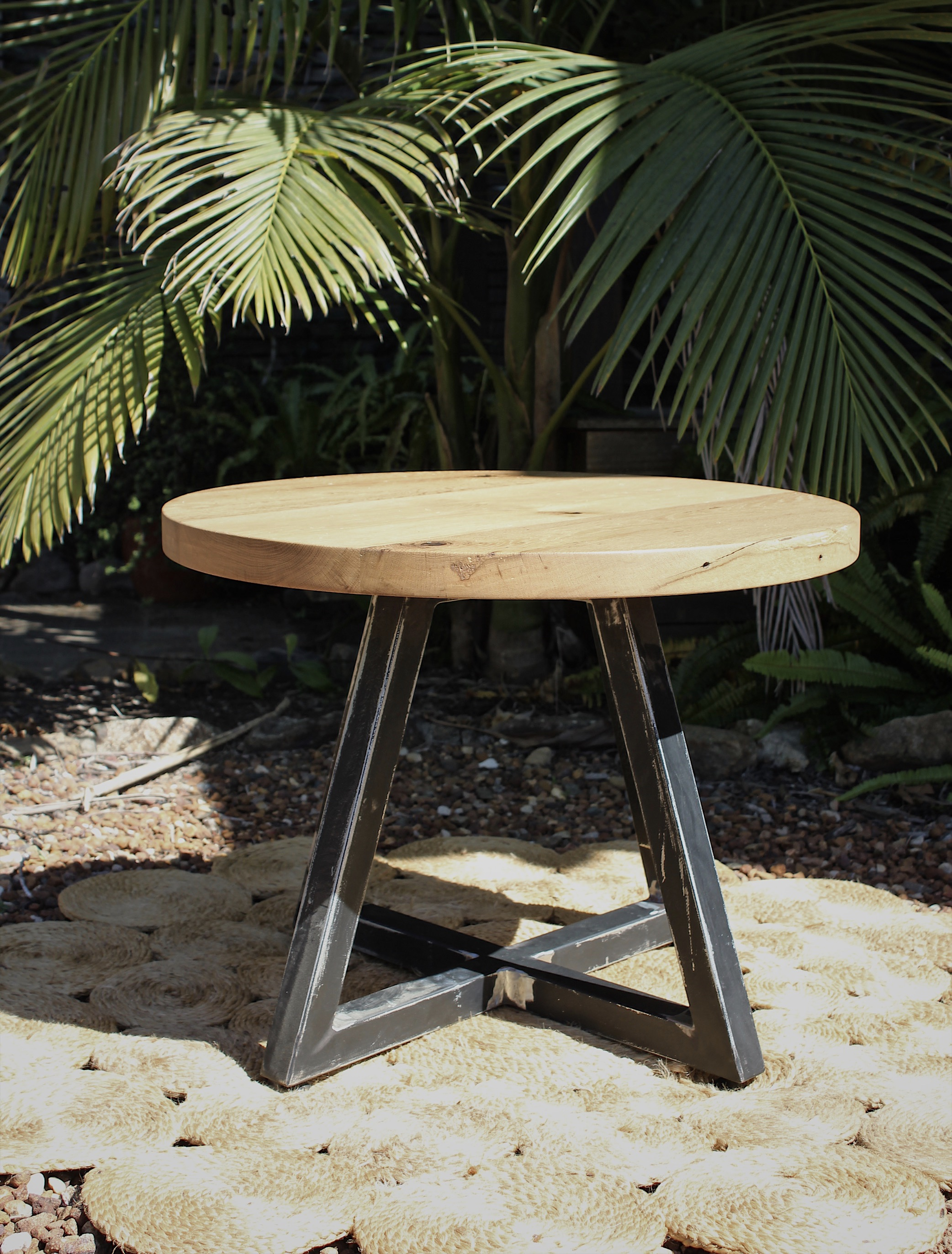 Recycled Oak Side Table